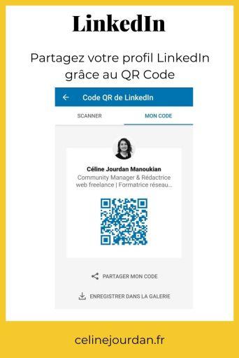 QR code sur linkedin
