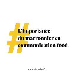 marronnier en communication food
