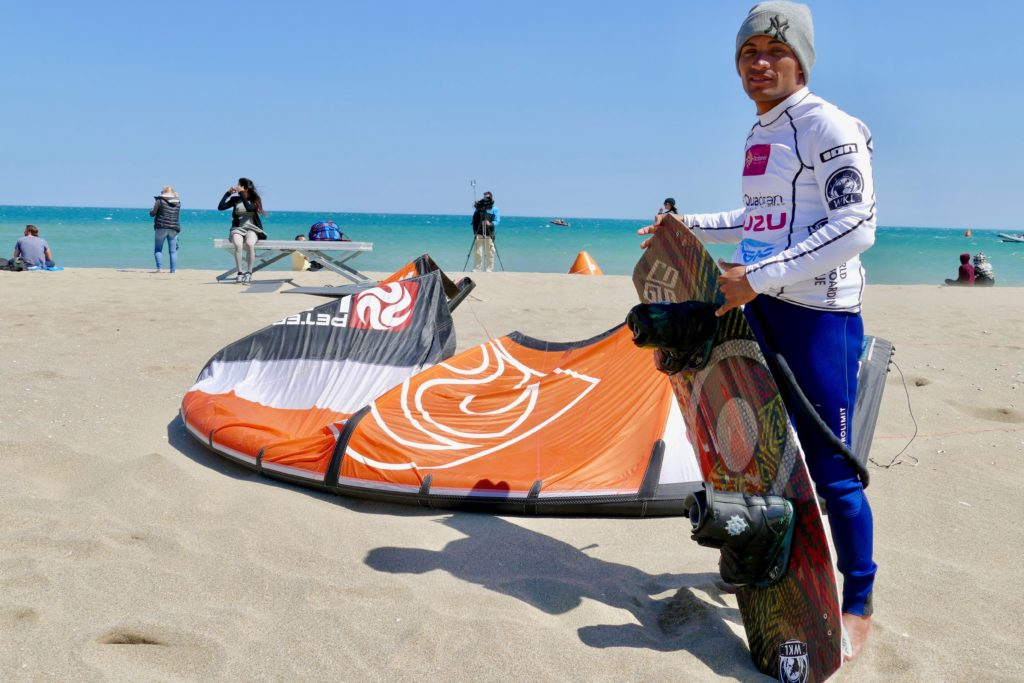 Big Air Champion Kitesurfing Leucate Peter Lynn Kites Luiz Alberto Cruz