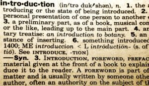 intro definition