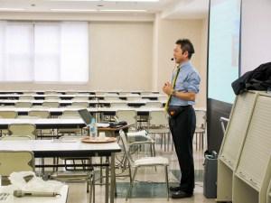 代表・小川清貴 都内高校の「健康講和」で授業
