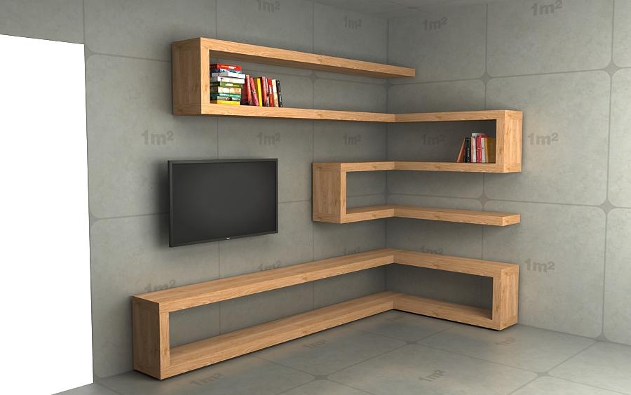 """(1278) Prosty zestaw półek """"tv"""""""
