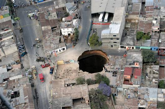 crater in Guatemala City