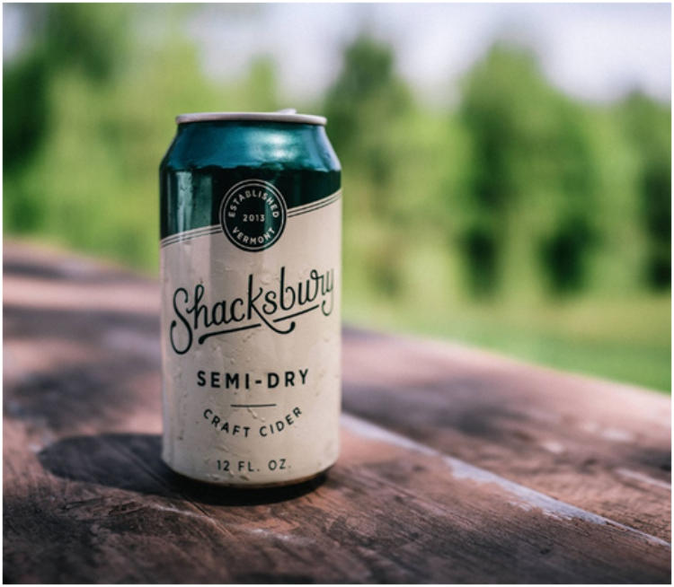 shacksbury semi dry cider cans cellar335