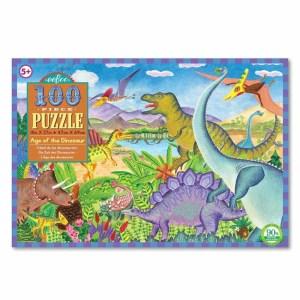 Age of the Dinosaur Eeboo 100 Piece Puzzle