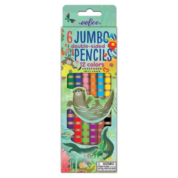 JUMBO DOUBLE-SIDED COLOR PENCILS