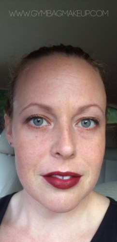 """EYES: ProFusion Nude palette with WnW """"Brulee"""" to blend, Jordana mascara, Nuance Brow Powder. FACE: Dior and elf powder, MAC """"Melba"""", HC """"Tiki"""" NARS """"Laguna"""". I'm not a creature of habit at all."""