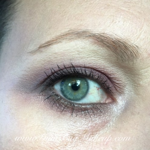 From the AP palette: 6 - base, blending and highlight. 2 - transition and to blend the lower lash line. 3 - lid shade. 9 - used as a smokey liner. 10 - line the lower lash line. 4 - inner corner. L'Oreal Brow Gel. Urban Decay Zero - waterline and tightline. Benefit Rollerlash mascara.