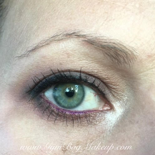 6 - blending, highlight and base. 2 - transition and blending the lower lash line. 8 - crease. 9 - lid and lower lash line. 1 - inner corner. KVD Trooper liner. UD Zero to tightline. Maybelline Master Drama Chromatics Eyeliner in Plum Persuasion and Mighty Magenta in the waterline. Rollerlash mascara.