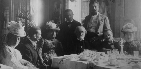Gaspare Campari in compagnia di Giuseppe Verdi