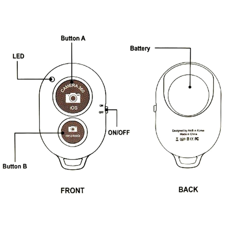 Universal Mini Bluetooth Wireless Self Timer Shutter