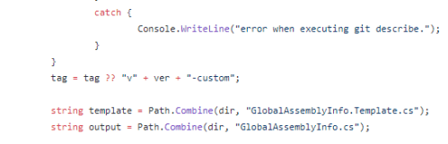 Figure 3. Code taken from a ConfuserEx version created outside GIT