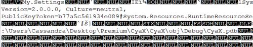 Figure 7. The leaked debug symbols paths