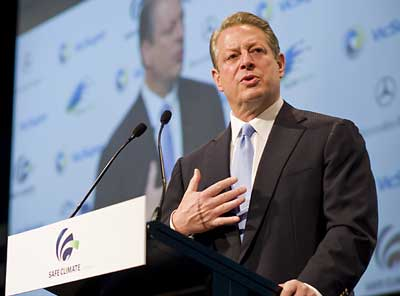 Al Gore speaking at Safe Climate Australia launch