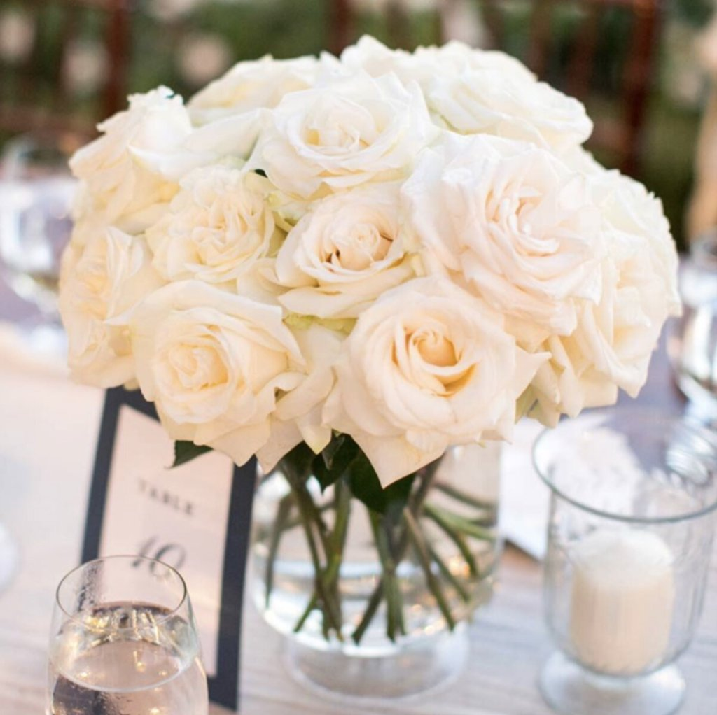 sydney wedding flowers table rose centrepiece packages prices