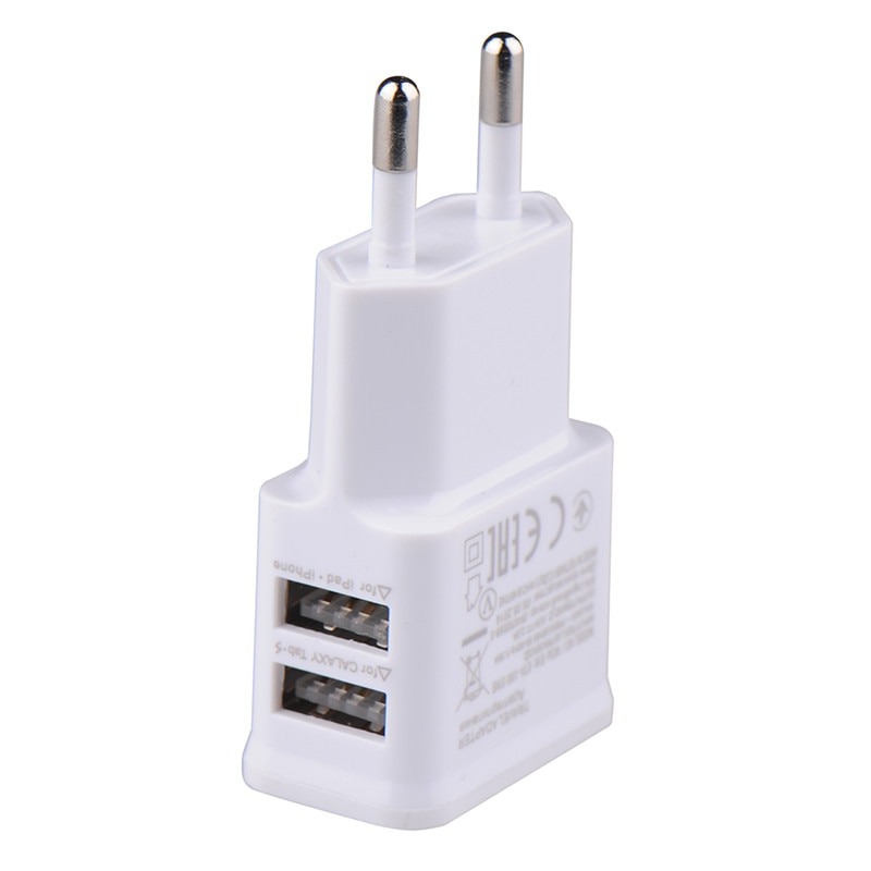 5V 2A EU Plug Adapter USB Wall Charger For Samsung iphone Xiaomi Mobile Phone Charger For ipad Universal Travel AC Power Charger
