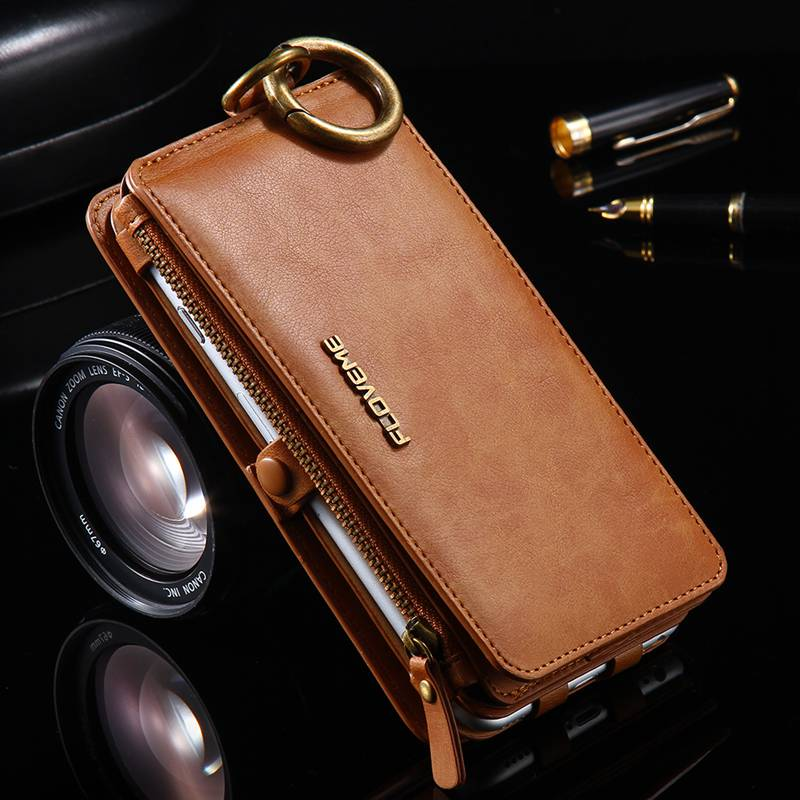 Phone Case For iphone 11 Pro Max Xs xr 5 c 6 s se 2020 7 8 Plus Hanging waist Funda coque Leather Wallet Phone shell Cover bag