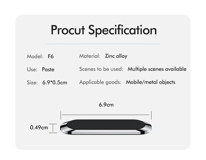 Universal Mini Strip Shape Magnetic Car Phone Holder For iPhone Smartphone Metal Wall Magnet Mount Car Holder For Phone in Car