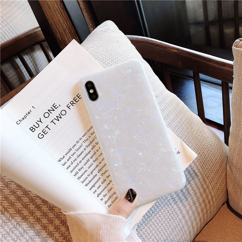 Glossy Marble Case For iphone 6 7 8 Plus 11 Pro X XS Max XR Bling Shell Epoxy Silicon Glitter Soft TPU Cover For iPhone 7 11 pro