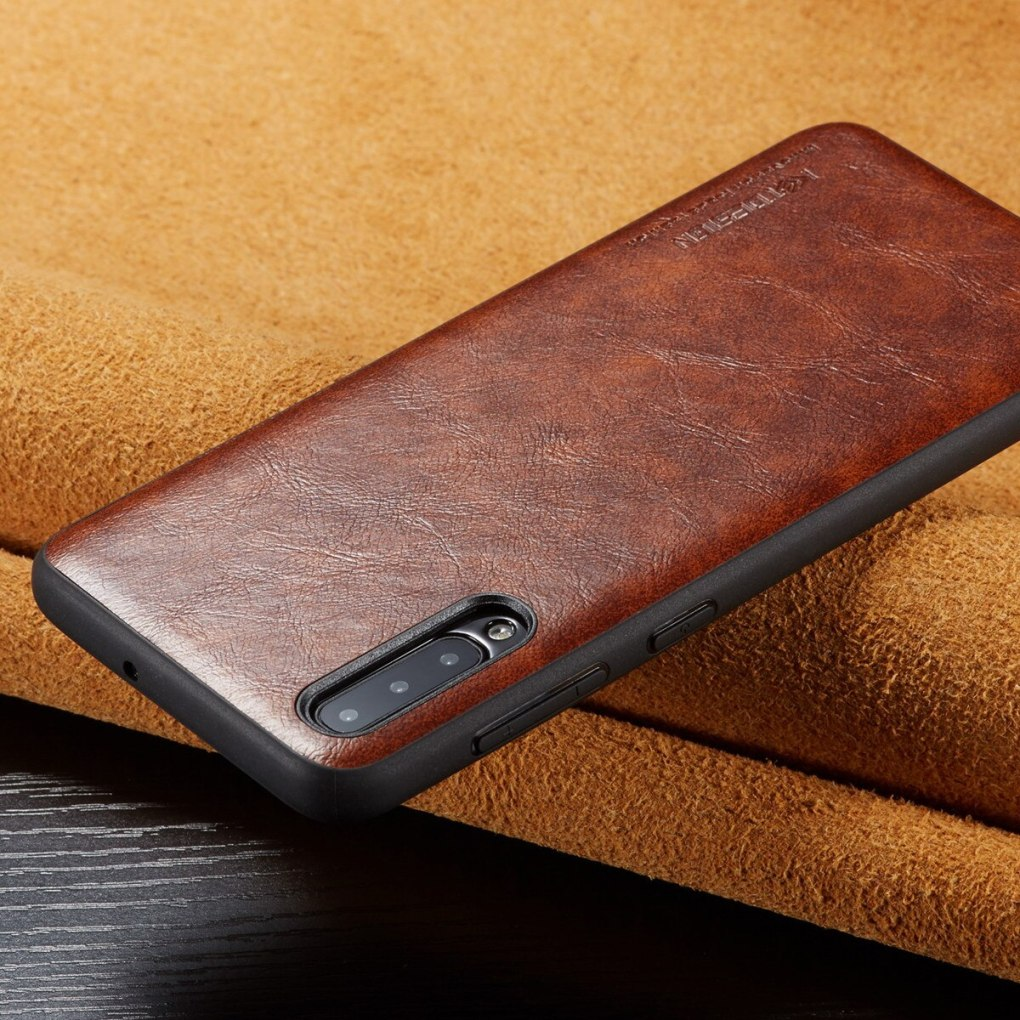 For Samsung Galaxy A10 A50 Case Luxury Vintage PU Leather Back Thin Cover Case For Samsung Galaxy A30 A40 A70 Shockproof Case