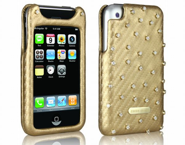 Gold and Diamond iPhone Case