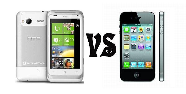 HTC Radar vs. Apple iPhone 4S