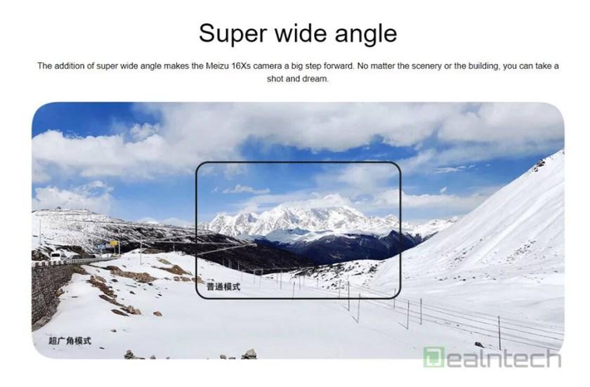 Sforum - Trang thông tin công nghệ mới nhất Meizu-16Xs-Super-Wide-angle Cấu hình chi tiết của Meizu 16Xs xuất hiện trước ngày ra mắt: Chip Snapdragon 675, vân tay trong màn hình