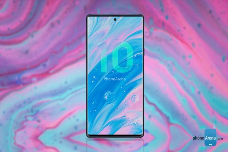 """Sforum - Trang thông tin công nghệ mới nhất Samsung-Galaxy-Note-10-6 PhoneArena khoe thiết kế """"nốt ruồi và 4 camera dọc"""" của Galaxy Note 10 trong bộ concept 3D mới"""