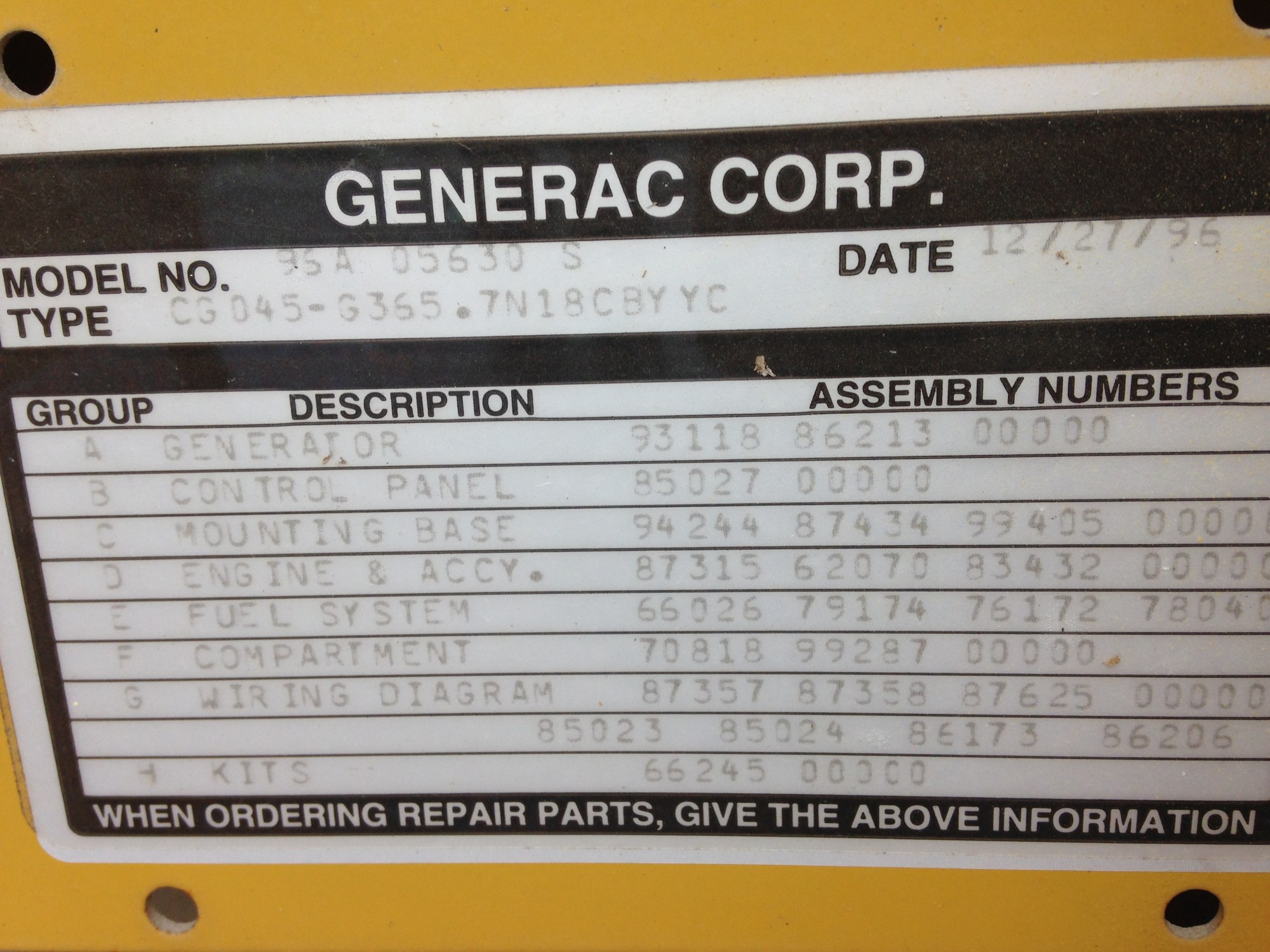 hight resolution of generac ng 45kw used generator for sale