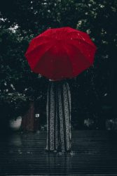 Download Red Umbrella in the Rain Wallpaper CellularNews
