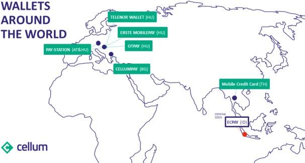 Cellum Wallets around the world 2016-03