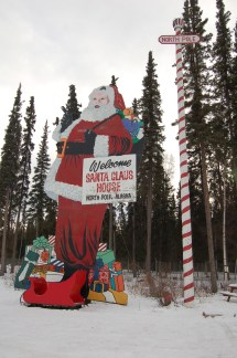 Bucket List #1 Part 3 Alaska Ice Sculptures & Santa