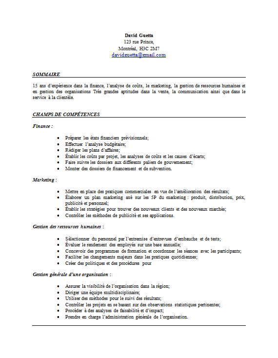 le cv de comp u00e9tences   un leurre