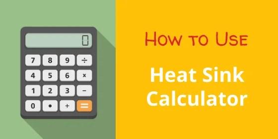 heat sink size calculator use