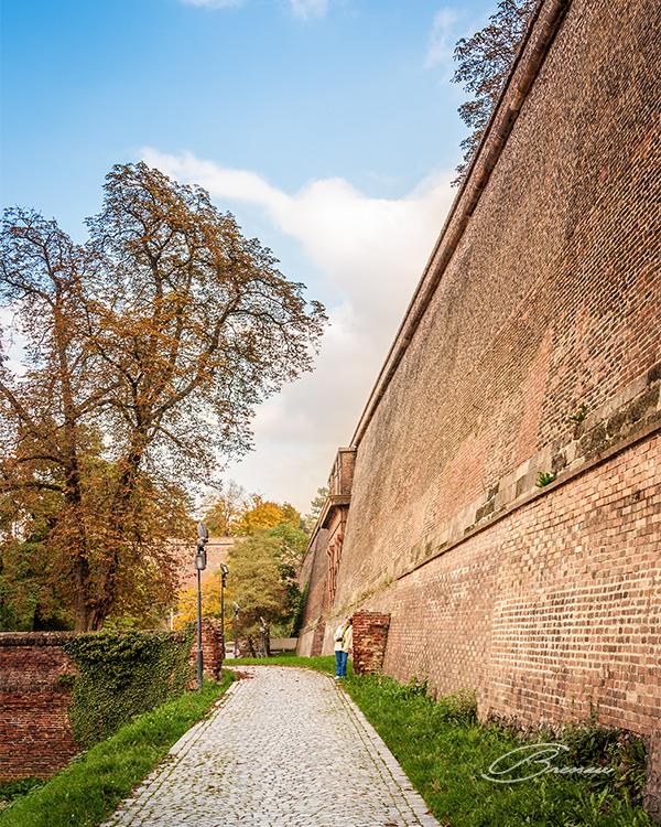 The Massive Walls at Vyšehrad.