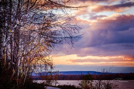 Sunset at the Ottawa River, Ottawa, Canada.