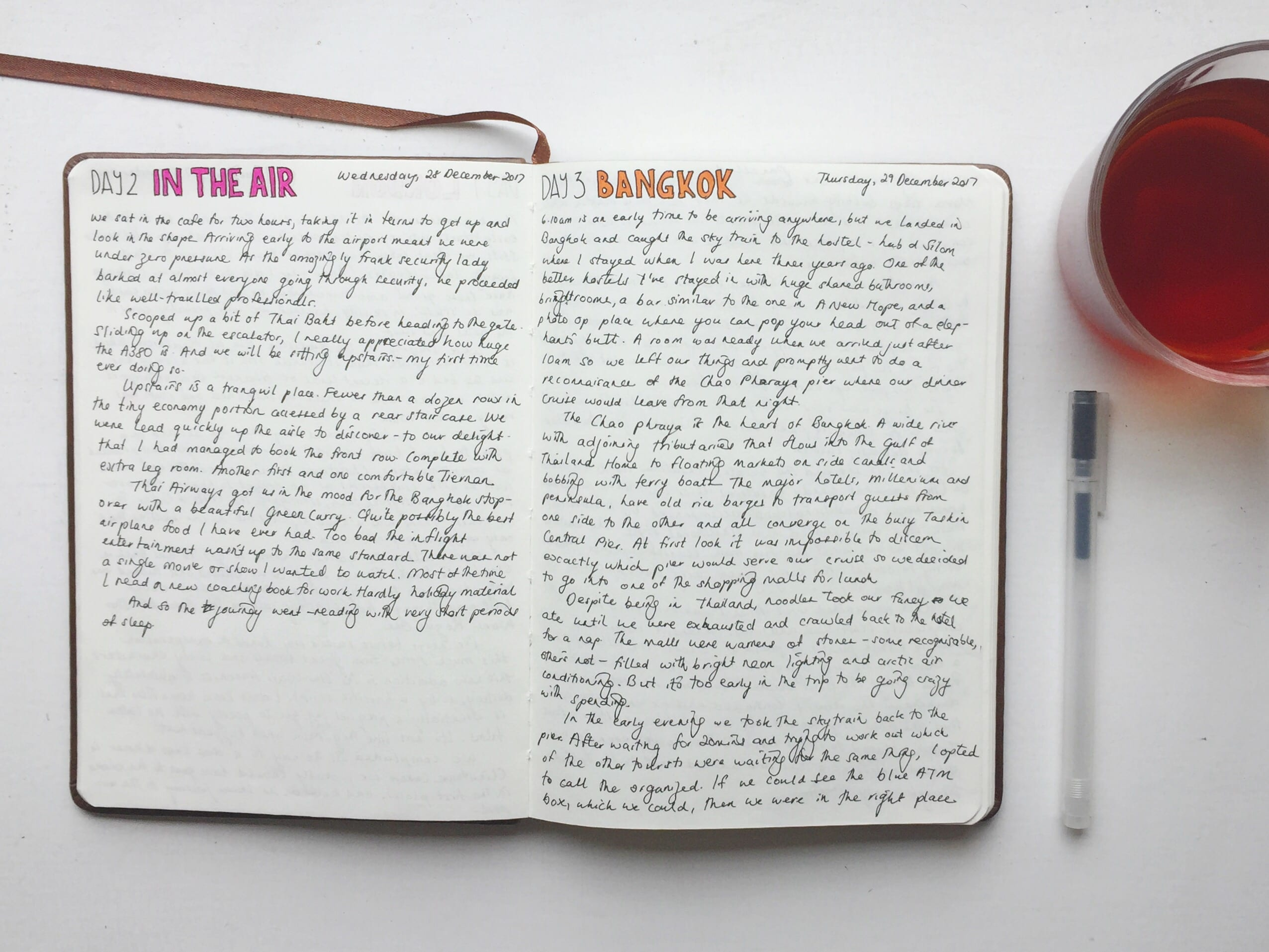travel journal diary