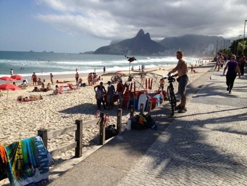 A view of Ipanema beach in Rio de Janeiro - nostalgia and Joao Jobim!
