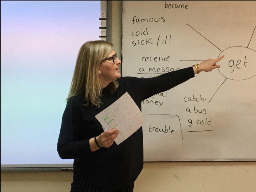 Sara teaching at CELT