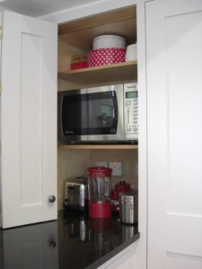cupboard for toaster, microwave, kettle by Celtica Kitchens