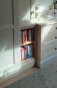 bookshelf in birch ply with oak edging by Celtica Kitchens