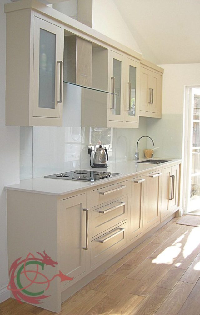 galley kitchen in North London by Celtica Kitchens