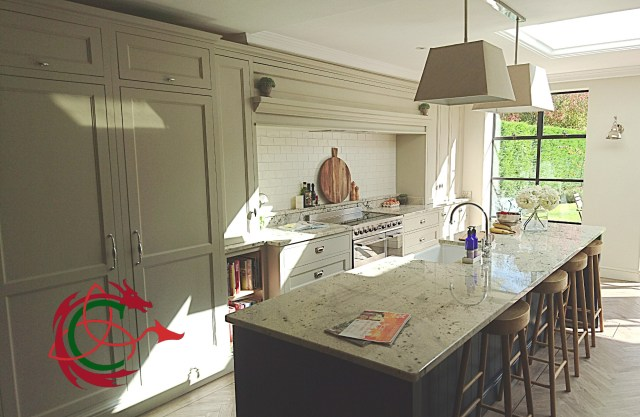 Edwardian style in-frame bespoke kitchen near Solihull by Celtica Kitchens, on testimonials page