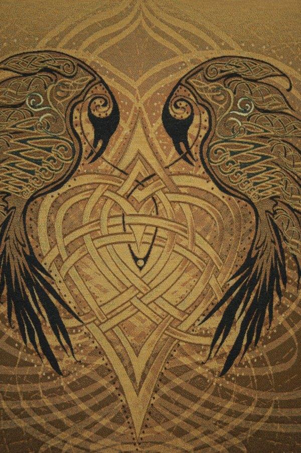 Fine Art Tapestry - Celtic Ravens Heart Jen Delyth
