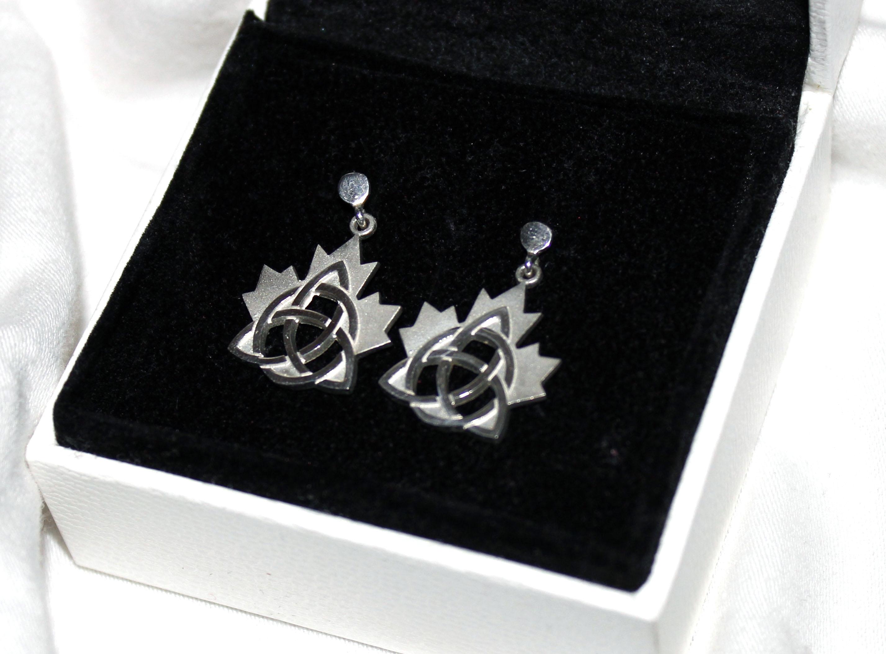 Celtic Maple Leaf Earrings