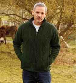 Irish Wool Sweater Green