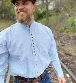 Grandad Collar Shirt for Men