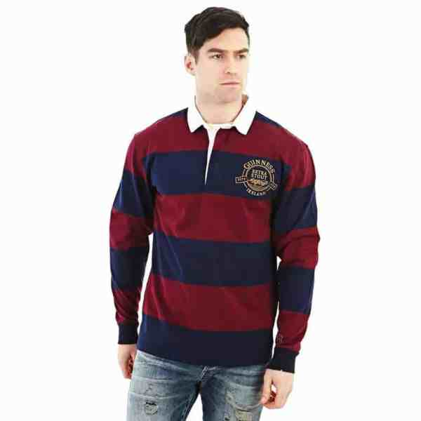 Guinness Rugby Shirt - Wine And Blue Celtic Clothing Company